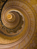 Spiral Staircase at Baroque Monastery Church of Sts Peter and Paul Photographic Print by Richard Nebesky