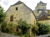 House in Village of Castelnaud at the Foot of Castenuad Castle Fotodruck von Barbara Van Zanten