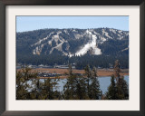 Snow Summit Ski Area in Big Bear Lake, California, Struggles to Make Artificial Snow Framed Photographic Print by Adrienne Helitzer