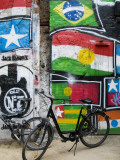 Graffiti and Bicycles at Arthouse Tacheles, Orianenburgerstrasse Photographic Print by Aldo Pavan