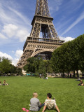 People on Lawn in Front of Eiffel Tower Photographic Print by Will Salter