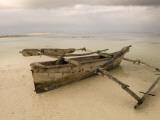 Pwani Mchangani Village on East Coast. Fishing Boat on Beach Fotoprint av Ariadne Van Zandbergen