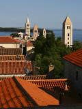 Historic Centre of Rab Town with Rooftops and Four Bell Towers Photographic Print by Ruth Eastham & Max Paoli