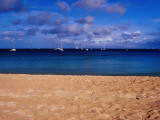 Reduit Beach and Yachts on Rodney Bay Photographic Print by Richard l&#39;Anson