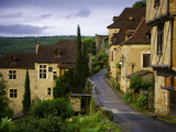 Old Pilgrims' Road Leading Through the Rocamadour Arch Just Visible in the Background Fotodruck von Barbara Van Zanten