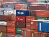 Detail of Port&#39;s Container Yard Photographic Print by Brent Winebrenner
