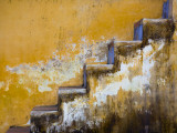Steps with Peeling Yellow Paint Photographic Print by Tony Burns