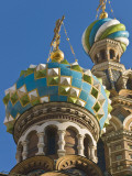 Green, Blue, and White Coloured Domes of Vladimirskaya Church Photographic Print by Tim Makins