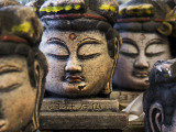 Buddha Head Statues in Usuki Photographic Print by Shayne Hill