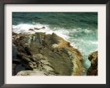Waves Crash Against the Rocks at Seal Bay on Kangaroo Island, Australia, December 7, 2001 Framed Photographic Print by Barnini Chakraborty