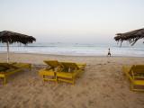 Beach Chairs at Calengute Beach, North of Panaji Photographic Print by Orien Harvey