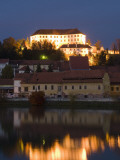 Castle and Houses Reflected in Drava River Photographic Print by Richard Nebesky