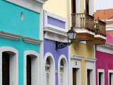 Colourful Colonial Architecture in Old San Juan Photographic Print by Rachel Lewis