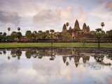 Angkor Wat and its Reflection Photographic Print by Tim Hughes