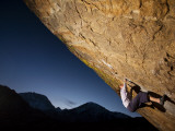 Young Woman Climber on Rock Face Photographic Print by Tyler Roemer