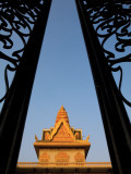 Metal Gates of Wat Ounalom Photographic Print by Antony Giblin
