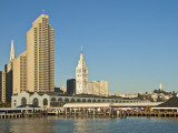 Downtown Skyline with Ferry Building Clocktower Photographic Print by Stephen Saks