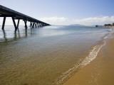 Lucinda Beach and Australia's Longest Jetty Photographic Print by Andrew Bain