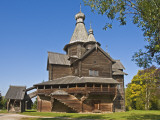Wooden Church in Vitoslavlitsy Museum of Wooden Architecture Photographic Print by Tim Makins