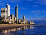 Hi-Rise Apartment Buildings and Surfers Paradise Beach Photographic Print by Richard l'Anson
