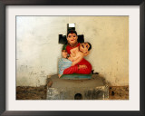 A Statue of a Woman Who Committed Sati 60 Years Ago Cradling Her Husband Framed Photographic Print by Manish Swarup