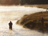 Three Fly Fishermen on the Madison River (Near Madison Junction) Photographic Print by Shannon Nace