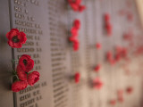 Memorial Wall for Australian Soldiers Who Died in the Second World War Photographic Print by Oliver Strewe