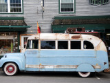 Old Bus Touring the Country Stops in Bar Harbour Photographic Print by Peter Ptschelinzew
