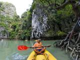 Kayak on Ao Phang Nga Photographic Print by Austin Bush