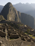 Overhead of Inca City Seen from Hut of Caretaker of Funerary Rock. Photographic Print by Brent Winebrenner