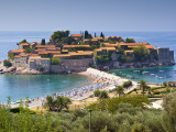 Hotel Sveti Stefan and Sveti Stefan Beach Photographic Print by Richard l'Anson