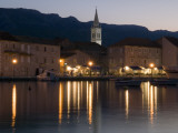 Church of Sv. Ivan (St John) and Waterfront Buildings at Night Photographic Print by Will Salter
