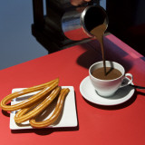 Chocolate Con Churros at the San Miguel Market Photographic Print by Diego Lezama
