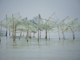 Fish Trap Nets on Chilika Lake Photographic Print by April Maciborka