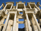 Greek Facade Ruins at Ephesus Photographic Print by Sean Caffrey