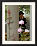 National Security Adviser Condoleezza Rice Listens to President Bush Speak About Cuba Framed Photographic Print