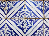 Detail of Portuguese Colonial Tiles Photographic Print by Viviane Ponti