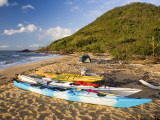 Kayakers' Camp on Sunken Reef Bay Photographic Print by Andrew Bain
