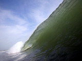 Unridden Wave at Popular Surfing Beach Playa Aserradores Fotografisk tryk af Paul Kennedy