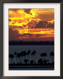 The Sun Sets Over the Bay of San Juan, Puerto Rico Framed Photographic Print
