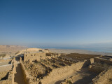 Masada Archaeological Site in the Negev Photographic Print by Aldo Pavan