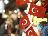 Turkish Flags at Market in the Grand Bazaar Photographic Print by Seong Joon Cho