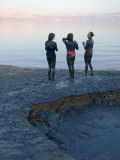 Women Applying Dead Sea Mud to their Bodies, Nahal Avenat Photographic Print by Simon Foale