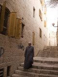 Man Walking Down Stairs in Old Jerusalem Photographic Print by Steven Greaves
