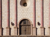 Stone Facade of Santa Barbara Mission Photographic Print by Andrew Peacock