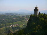 Rocca Montale Castle Built on Titan Mountain of Medieval San Marino Photographic Print by Ruth Eastham & Max Paoli