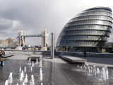 City Hall with Tower Bridge in Background Photographic Print by Rick Gerharter