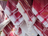 Head Scarfs for Sale at Shop on Hashemi Street Photographic Print by Richard l'Anson