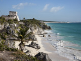 Tulum Ruins Along Caribbean Coastline Papier Photo par Sean Caffrey