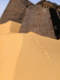 Meroe Pyramids in Sand Photographic Print by Anthony Ham